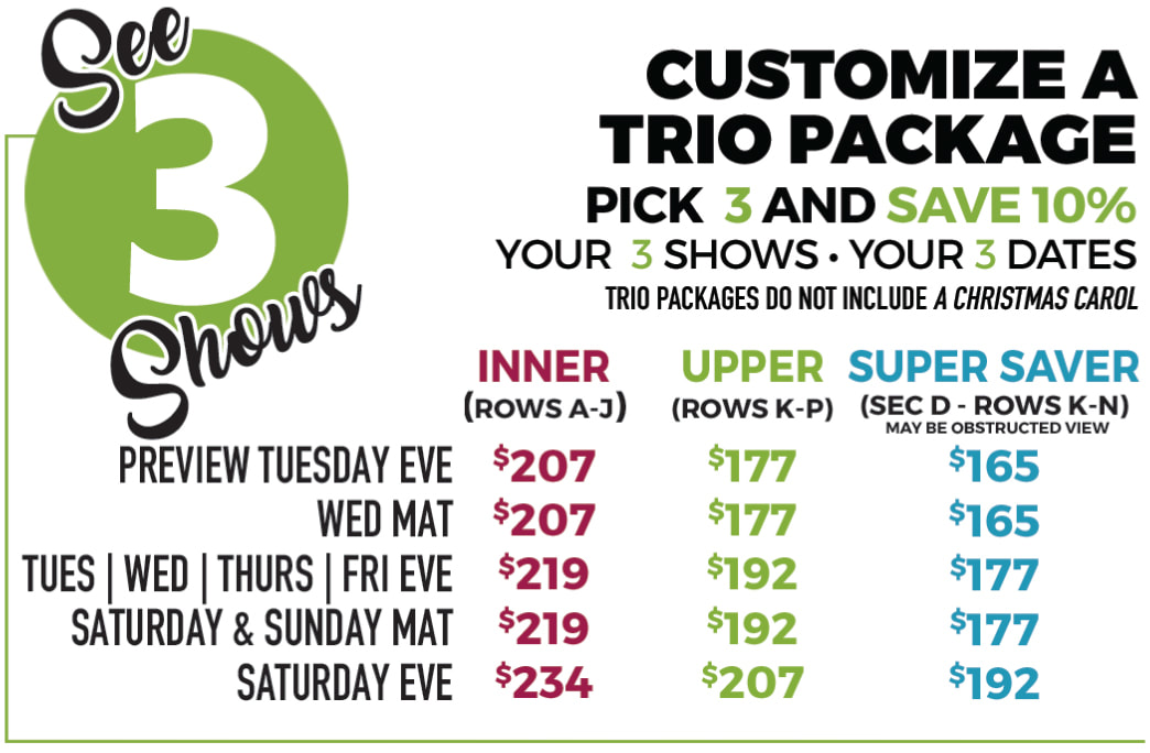 Trio Packages - North Shore Music Theatre